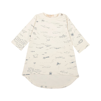 Organic French Terry Baby Dress - The Story - Ivory