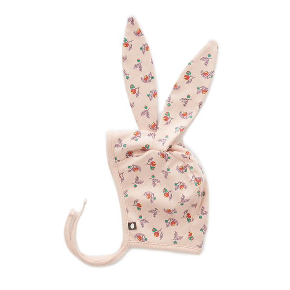 Organic Bunny Hat - Flower - Brambler Boutique
