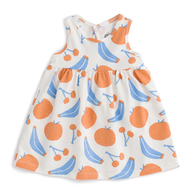 Organic Baby Tank Dress - Yummy Fruit - Brambler Boutique