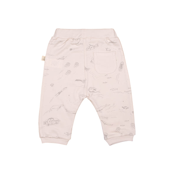 Organic Infant Pants - The Story- Heavenly Pink - Brambler Boutique