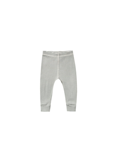 Organic Ribbed Leggings - Eucalyptus Striped - Brambler Boutique