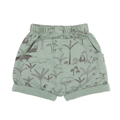 Organic Terry Shorts - The Story - Jadeite - Brambler Boutique