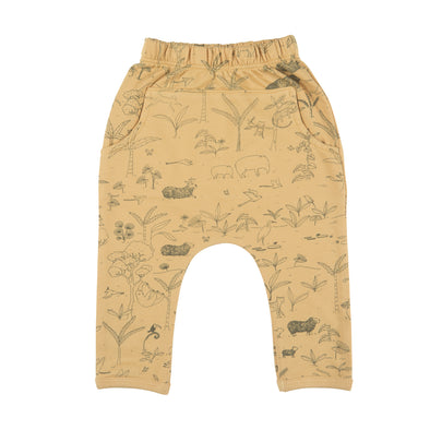 Organic Terry Jogger - The Story - Ochre - Brambler Boutique