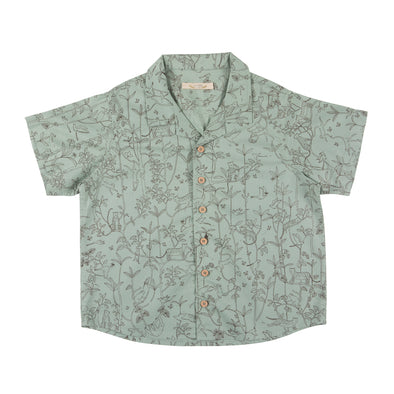 Organic Button Down Shirt - The Canopy - Jadeite - Brambler Boutique