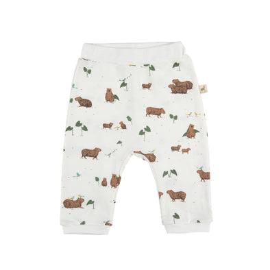 Organic  Baggy Infant Pants - Capybara - Brambler Boutique