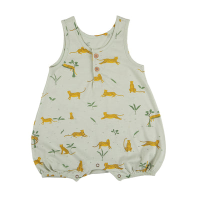 Organic Bubble Romper - Hidden Ocelot - Brambler Boutique