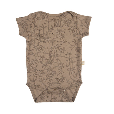Organic Onesie - The Canopy - Taupe - Brambler Boutique