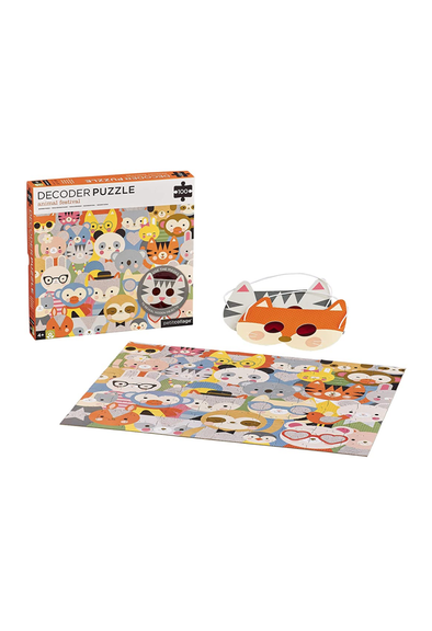 Animal Festival 100 Piece Decoder Puzzle - Brambler Boutique
