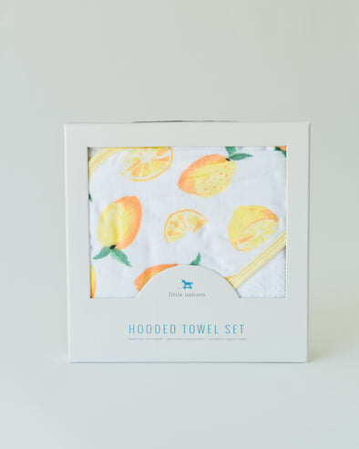 Hooded Towel - Lemon Set - Brambler Boutique