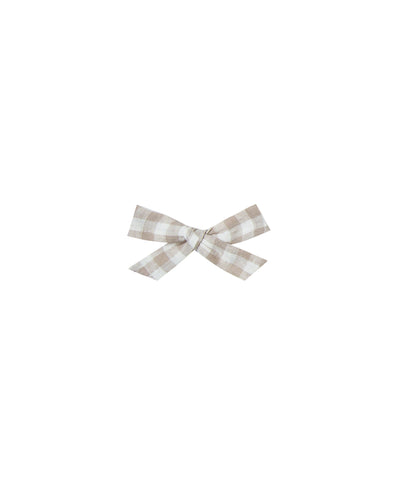 Baby Bow Clip - Gingham - Brambler Boutique