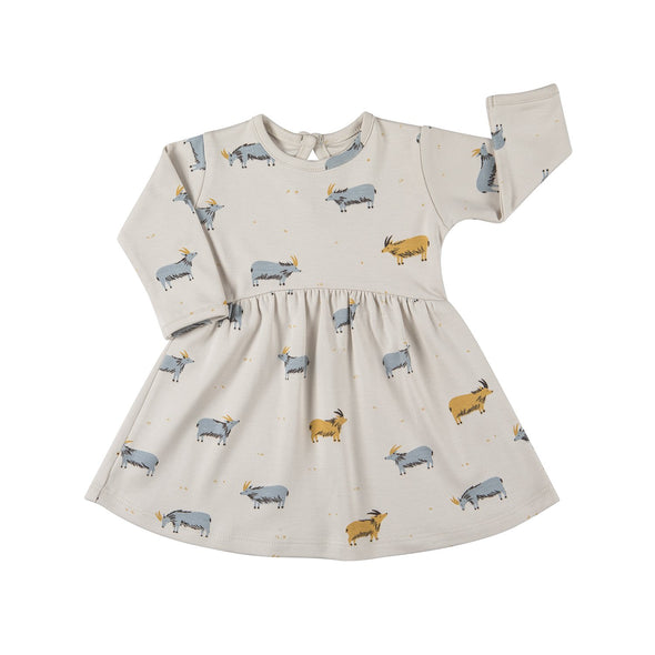 Baby Dress - Blue Goat - Brambler Boutique