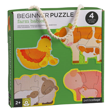 Baby Farm Animals Beginner Puzzle - 4 Puzzle Set - Brambler Boutique