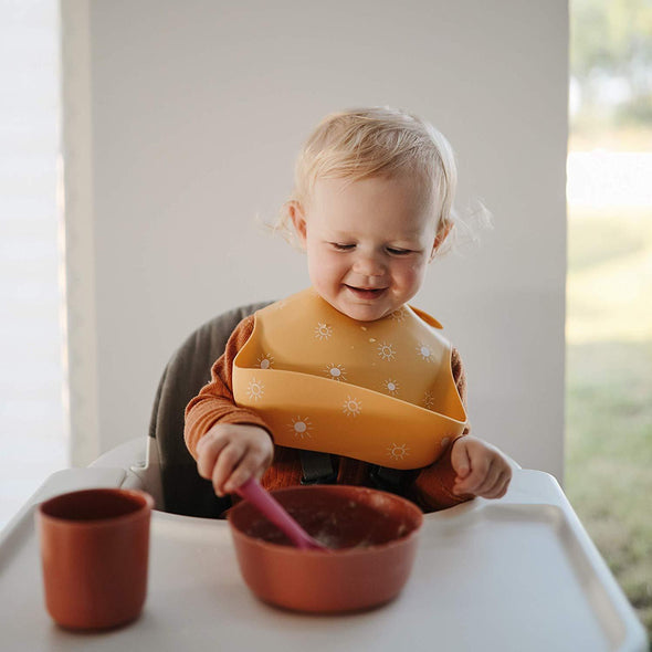 Bib - Full Silicone with Food Catcher - Brambler Boutique