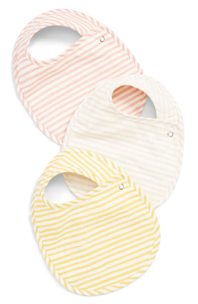 Bib Set of 3 - Stripes Away Petal - Brambler Boutique