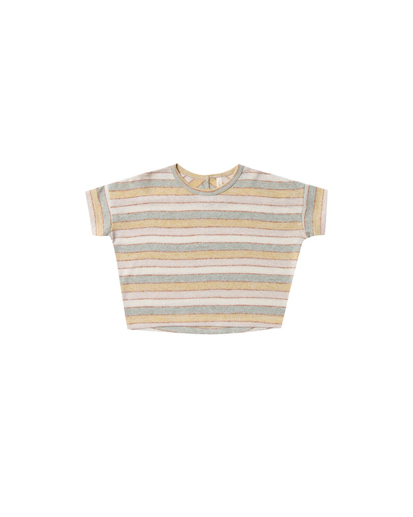 Boxy T-Shirt - Stripe - Brambler Boutique