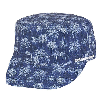 Cadet Cap - Blue Palm - Brambler Boutique