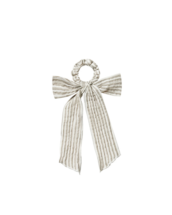 Hair Tie Scrunchie - Olive Stripe - Brambler Boutique