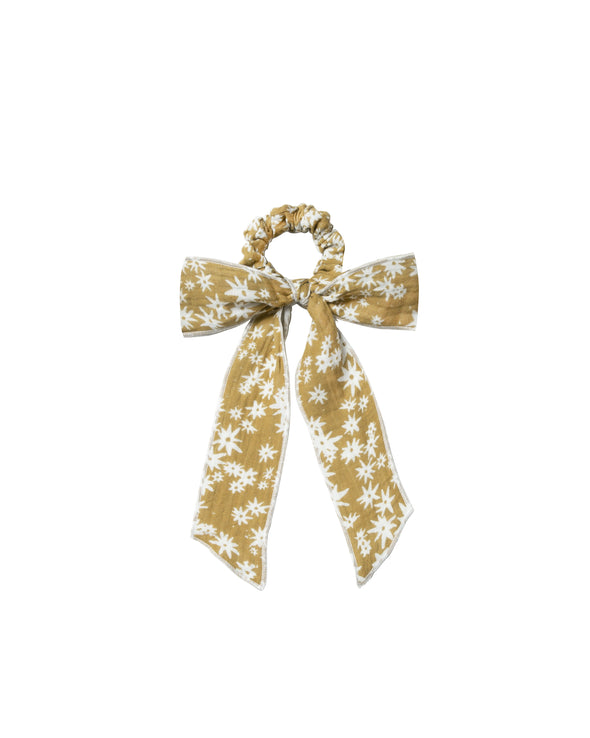 Hair Tie Scrunchie - Scattered Daisy - Brambler Boutique
