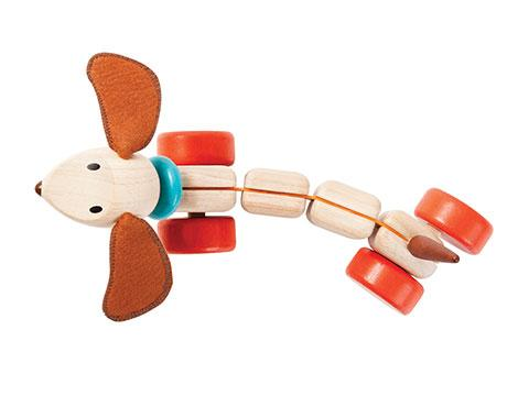 Happy Puppy Wooden Pull Toy - Brambler Boutique