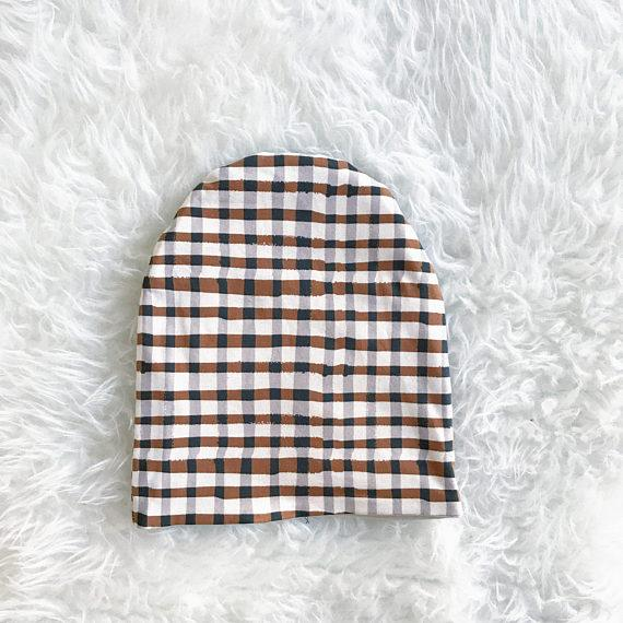 Hat - Slouchie - Plaid Reversible - Brambler Boutique