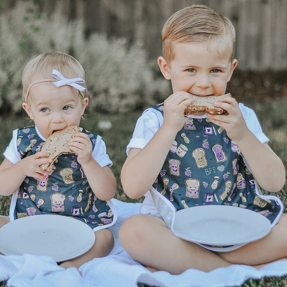 Infant and Toddler Baprons - Peanut Butter and Jelly - Brambler Boutique