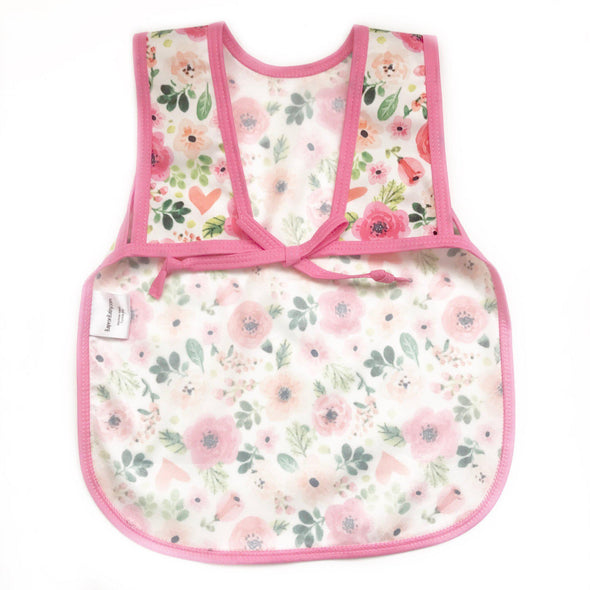Infant and Toddler Baprons - Pink Floral - Brambler Boutique