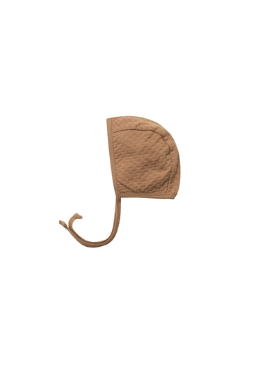 Organic Classic Pointelle Baby Bonnet  - Copper - Brambler Boutique