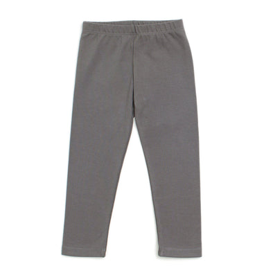 Organic Cotton Leggings - Charcoal - Brambler Boutique