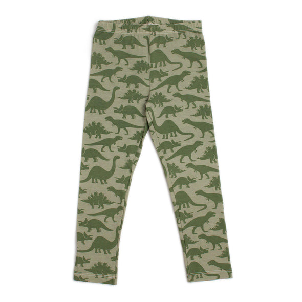 Organic Cotton Leggings - Dinosaurs - Brambler Boutique