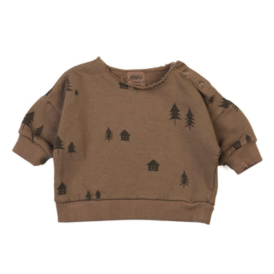 Organic Woodland Sweatshirt - Rust-Clothing-Kid Wild-6-12m-Brambler Boutique
