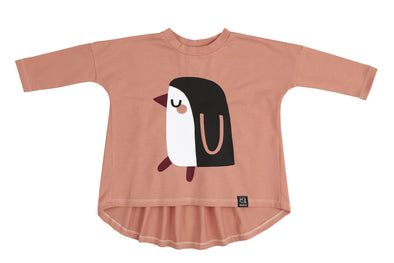 Oversized Tunic - Pink Penguin-Clothing-KukuKids-2T-Brambler Boutique