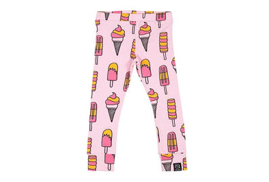 Leggings - Ice Cream and Popsicles - Light Pink - Brambler Boutique