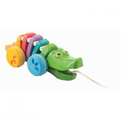 Rainbow Alligator Wooden Pull Toy - Brambler Boutique