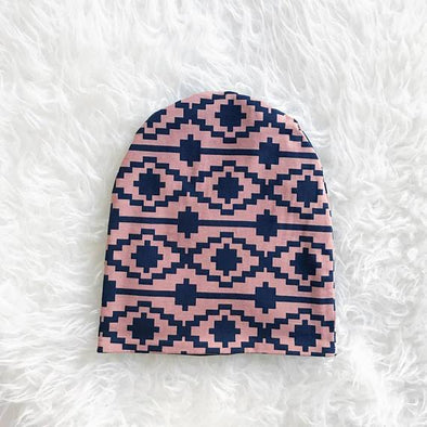 Slouchy Hat - Aztec Reversible - Brambler Boutique