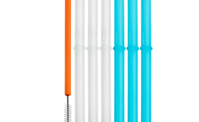 Spill-proof Reusable Silicone Straws - Brambler Boutique