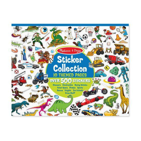 Sticker Collection Book: 500+ Stickers - Dinosaurs, Vehicles, Space, and More - Brambler Boutique
