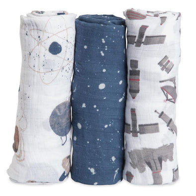 Swaddle - Muslin - 3 Pack - Planets - Brambler Boutique