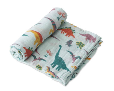 Swaddle - Muslin - Single - Dinosaurs - Brambler Boutique