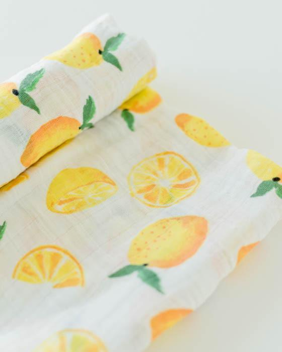 Swaddle - Muslin - Single - Lemon - Brambler Boutique