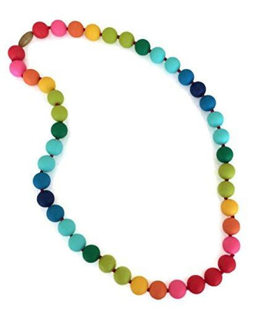 Teething Necklace - Rainbow - Brambler Boutique