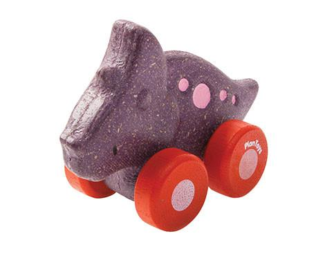 Wobbly Wooden Dino Cars - Brambler Boutique