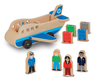 Wooden Airplane Play Set with Passengers and Luggage - Brambler Boutique
