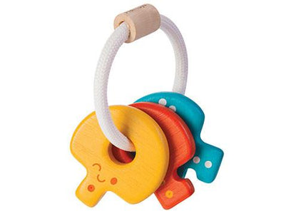 Wooden Baby Keys Rattle - Brambler Boutique