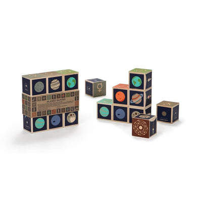 Wooden Blocks - Planets (plus Pluto!) - Brambler Boutique