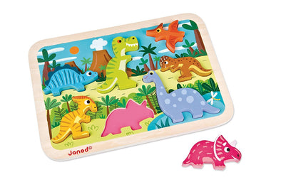 Wooden Dinosaur Chunky Puzzle - Brambler Boutique