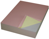 "21lb 8.5""x11"" 3-Part Blank Laser Carbonless Paper<br>(reverse or forward)<br>FREE SHIPPING!!"