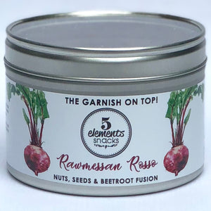 "Rawmessan Rosso -"" Nuts, seeds and beetroot fusion"""