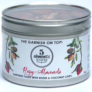 "Rosy Almond - ""Whole Almonds fused with roses and coconut chips"" LIMITED EDITION 100g *"