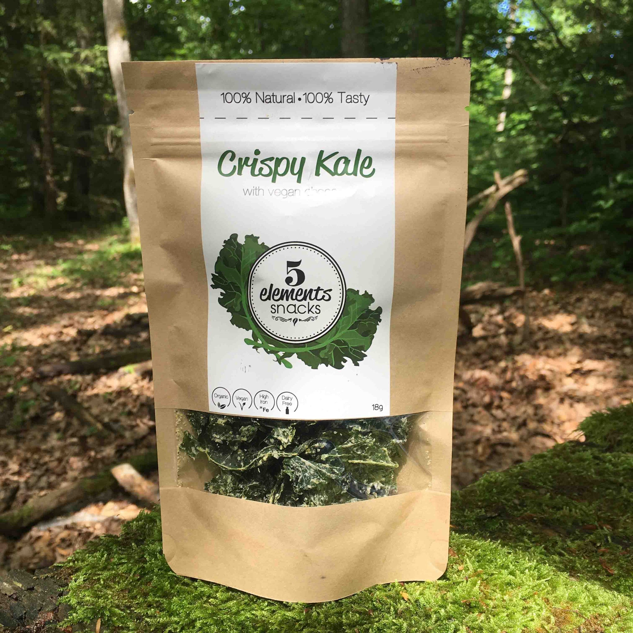 Crispy Kale with Vegan Cheese  - The Green Medicine