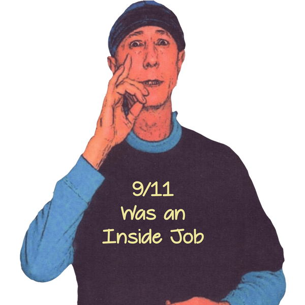 Les Visible in his Classic 9/11 T Shirt Black